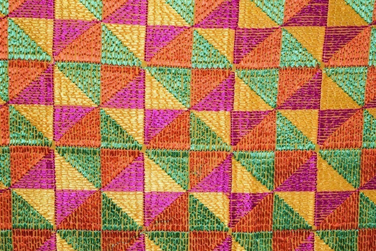 BRIDAL PHULKARI Dupatta M/C Embroidered Party wear FAUX CHINON Chunni D0881 2