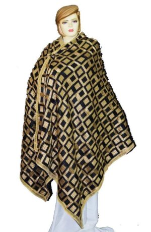 BRIDAL PHULKARI Dupatta M/C Embroidered Party wear FAUX CHINON Chunni D0882