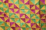 BRIDAL PHULKARI Dupatta M/C Embroidered Party wear FAUX CHINON Chunni D0883