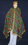 BRIDAL PHULKARI Dupatta M/C Embroidered Party wear FAUX CHINON Chunni D0888