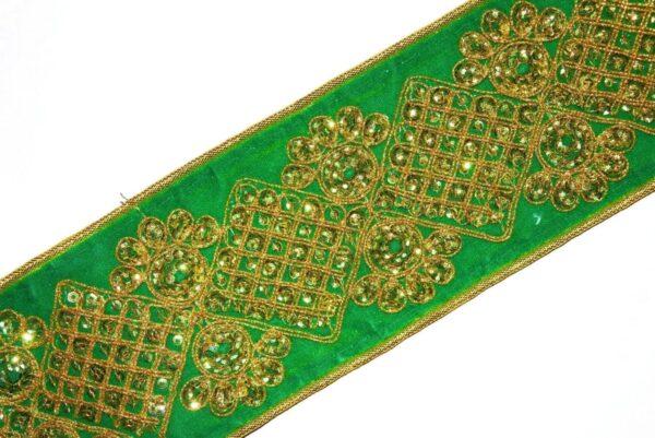3 Inch Wide Designer Embroidered Lace (per meter price) LC089