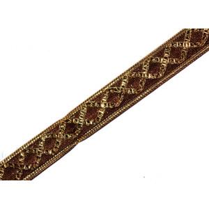 12 MM / Half Inch Wide Designer Kinari Lace Roll of 9 meters LC116