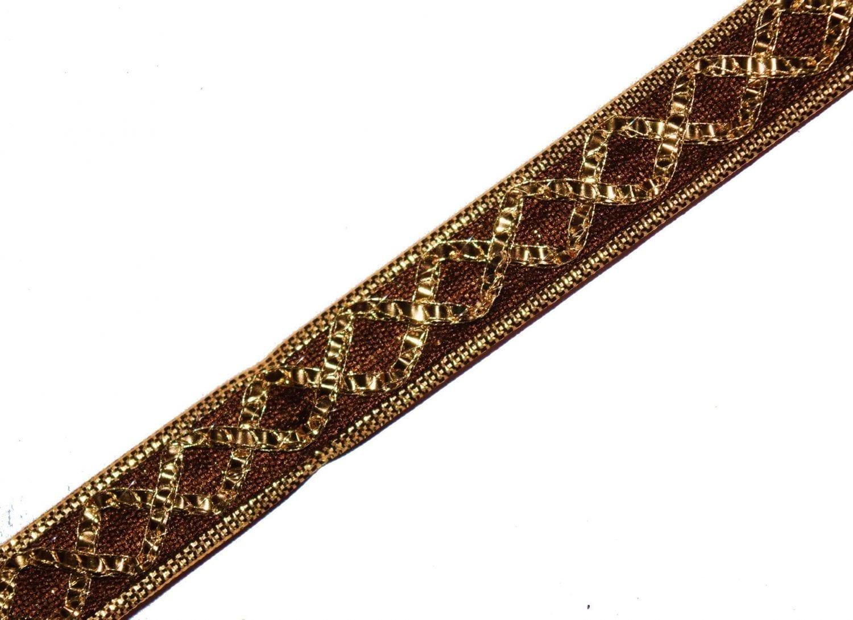12 MM / Half Inch Wide Designer Kinari Lace Roll of 9 meters LC116 1