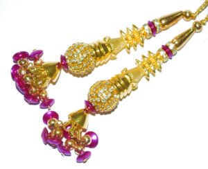 4.5 Inch long Latkans Dangles pair Multipurpose use for blouse, saree , dupatta, kurti, curtains LK040
