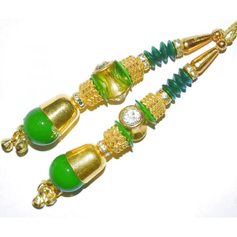 4.5 Inch long Latkans Dangles pair Multipurpose use for blouse, saree , dupatta, kurti, curtains LK056