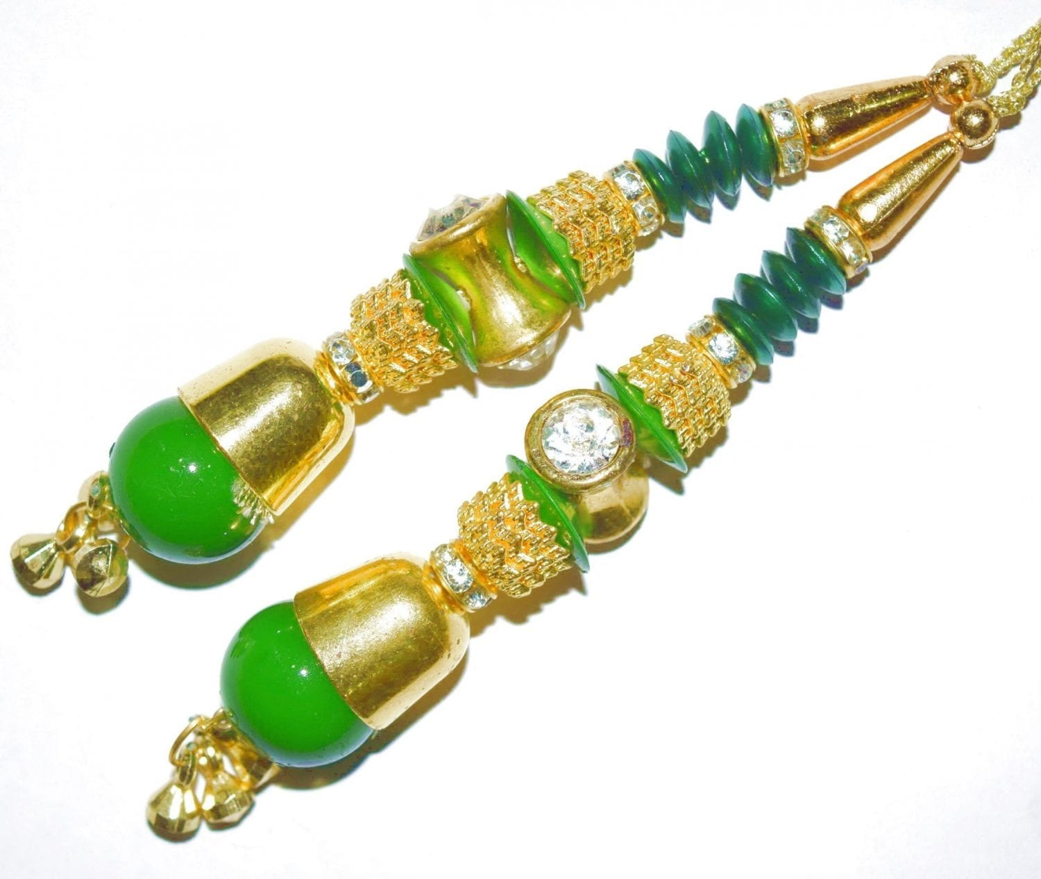 4.5 Inch long Latkans Dangles pair Multipurpose use for blouse, saree , dupatta, kurti, curtains LK056 1