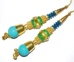 4.5 Inch long Latkans Dangles pair Multipurpose use for blouse, saree , dupatta, kurti, curtains LK058