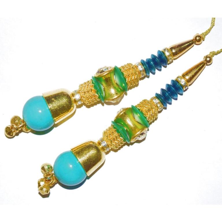 4.5 Inch long Latkans Dangles pair Multipurpose use for blouse, saree , dupatta, kurti, curtains LK058