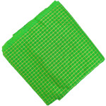 Parrot Green Golden Check Pure Cotton Plain Suit piece of 5 meters length CJ021