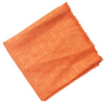Peach Jaam Cotton Silk Golden Check Suit Piece of 5 meters length CJ022