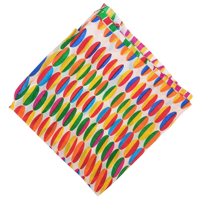Digital Print Semi Chinon Dupatta Multicolour Chunni DP018 1