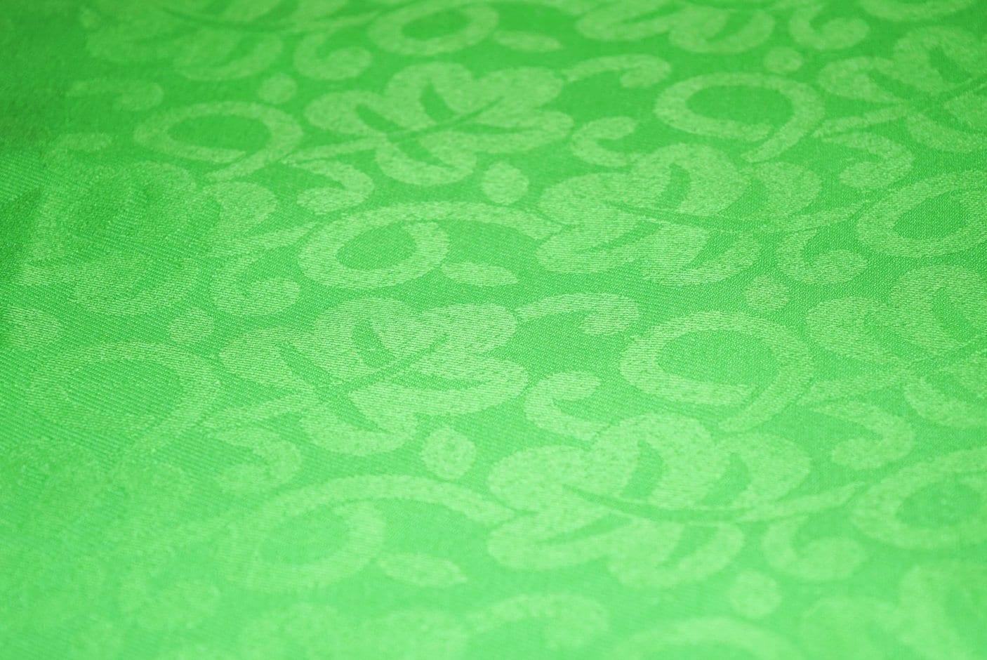 Parrot Green Cotton Jacquard Self Print Plain Suit piece of 5 meters length CJ024 1