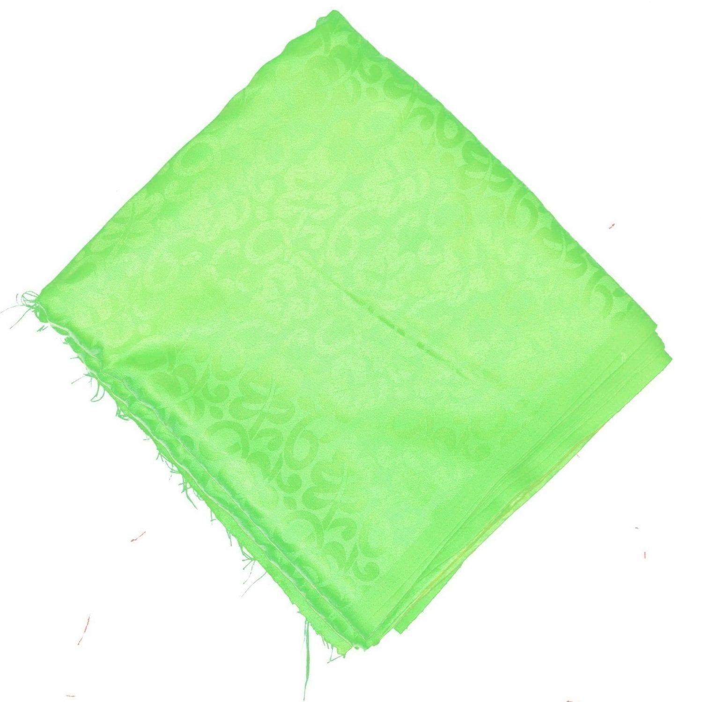 Parrot Green Cotton Jacquard Self Print Plain Suit piece of 5 meters length CJ024 2