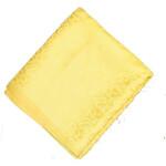 Yellow Cotton Jacquard Self Print Plain Suit piece of 5 meters length CJ025