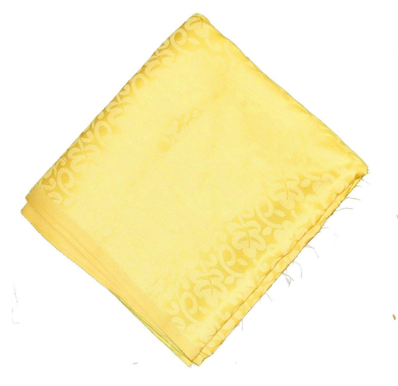 Yellow Cotton Jacquard Self Print Plain Suit piece of 5 meters length CJ025 2