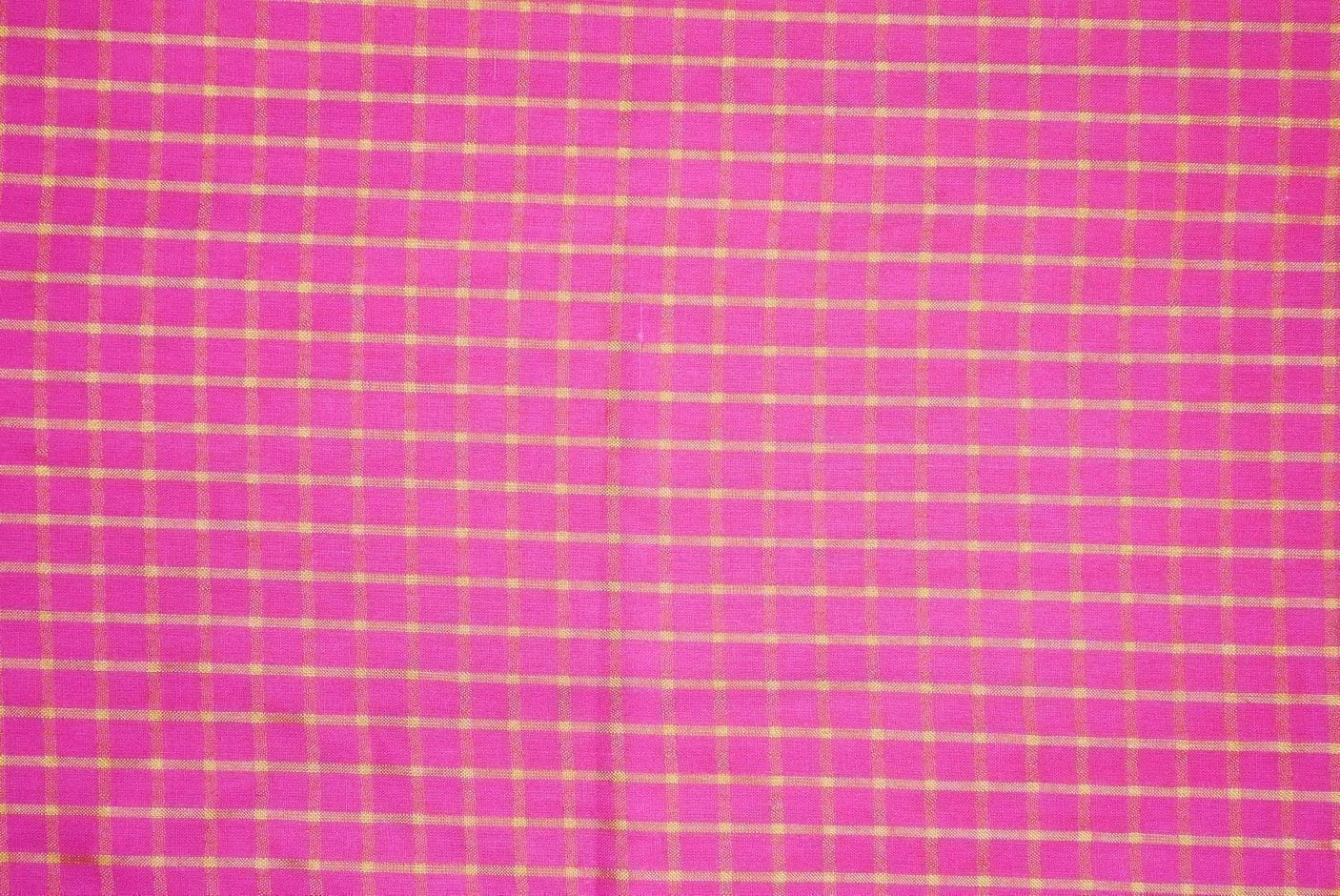 Pink Pure Cotton Base with Golden Check Plain Suit piece of 4.5 meters length CJ028 2