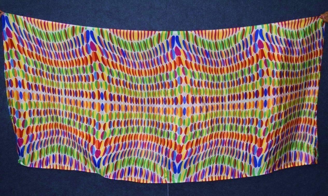 DIGITAL PRINT multicolour SEMI CHINON Partywear Dupatta Chunni DP018 2