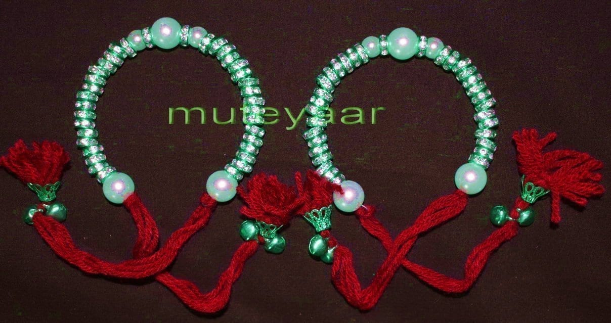 Ladies Sangeet Wedding Time Decorative GANA Wrist Band J0324 1