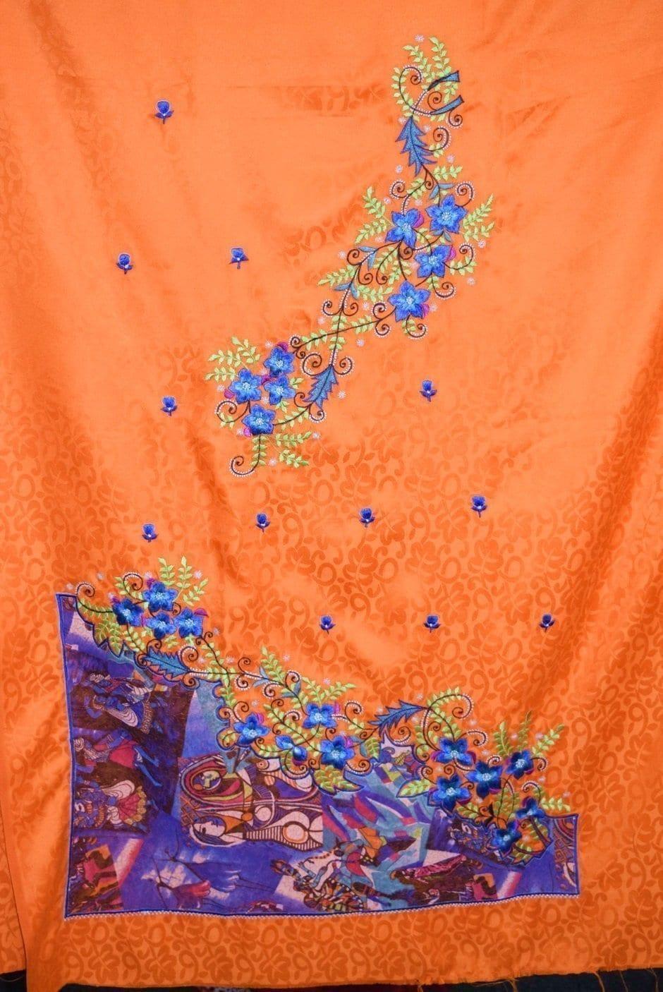 Designer Embroidery Georgette Salwar Dupatta with Cotton Kameez RM337 4