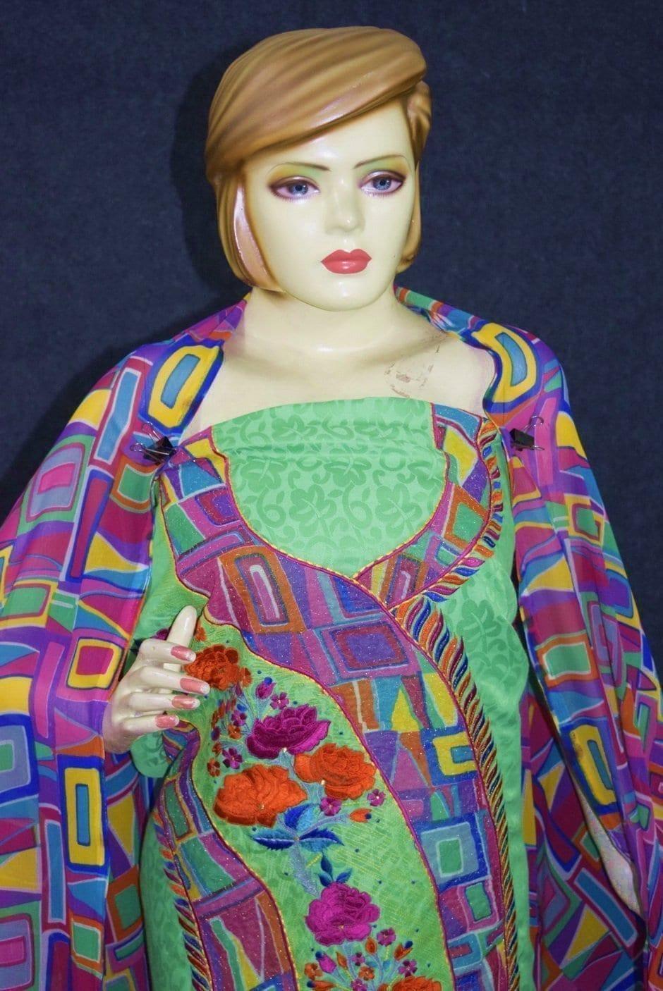 Designer Embroidery Georgette Salwar Dupatta with Cotton Kameez  RM340 2