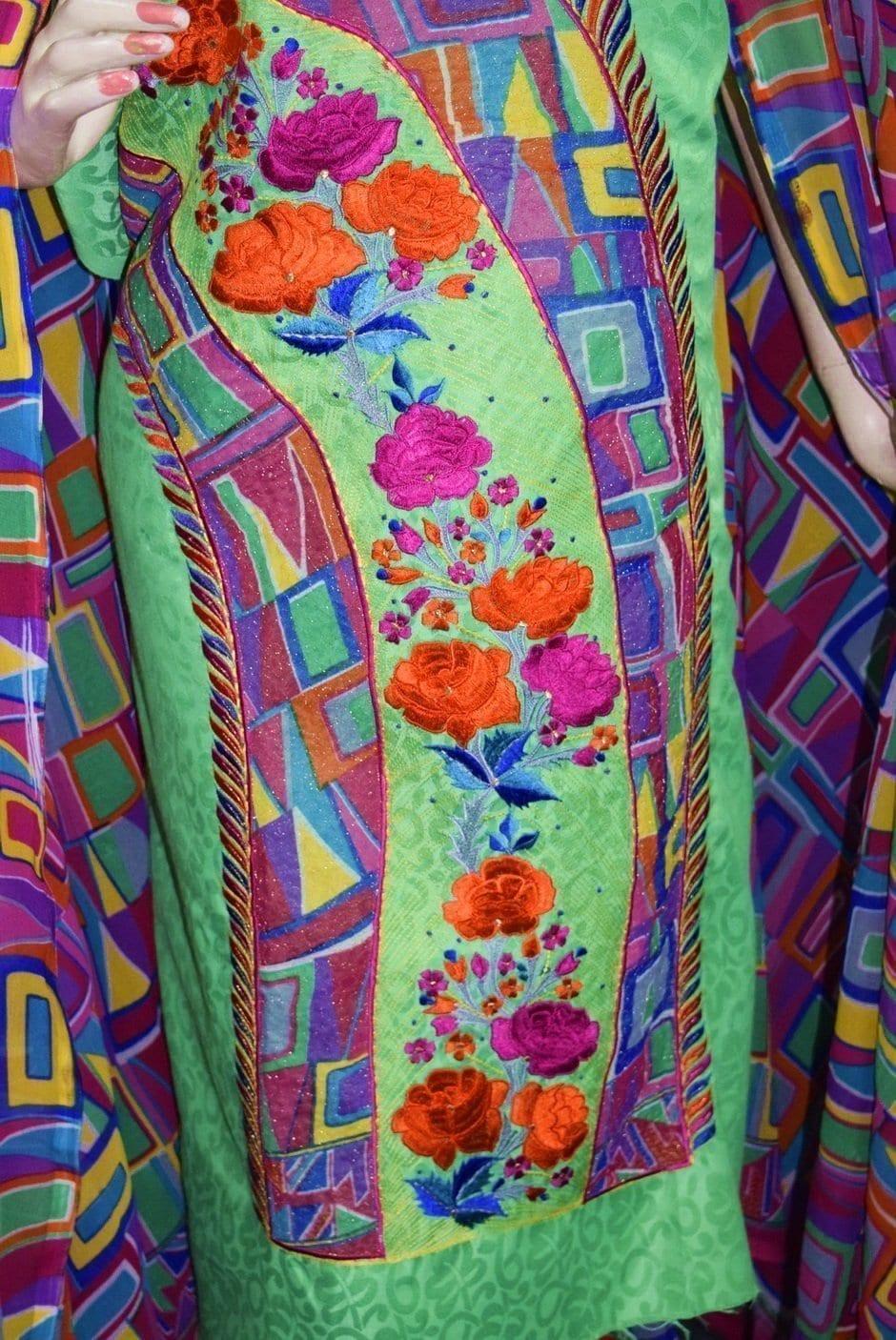 Designer Embroidery Georgette Salwar Dupatta with Cotton Kameez  RM340 3