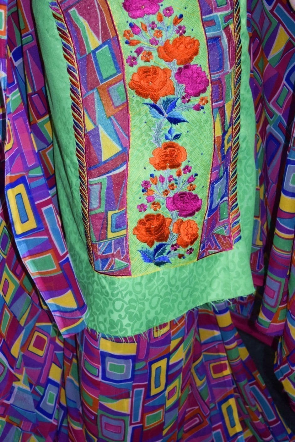 Designer Embroidery Georgette Salwar Dupatta with Cotton Kameez  RM340 4