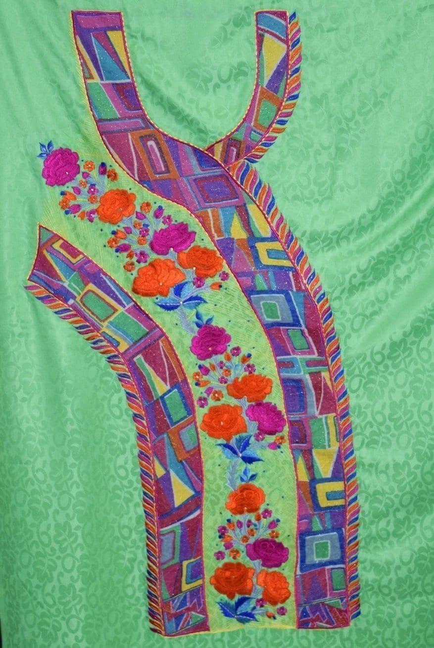 Designer Embroidery Georgette Salwar Dupatta with Cotton Kameez  RM340 5