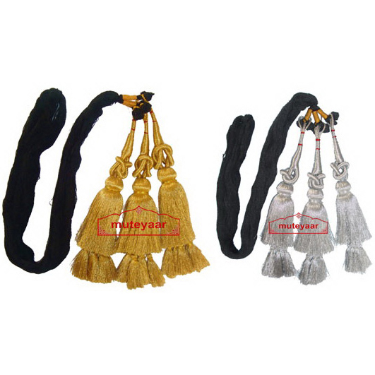 Pack of 2 - GOLDEN & SILVER Traditional Punjabi Paranda tassles Hair Braids 1