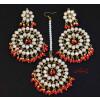 Kundan Tikka Set with Red Beads J0339