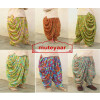 Lot of 25 BLENDED COTTON free-size Printed Dhoti Salwars - Mix Prints