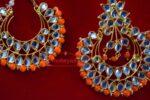 Kundan Work Punjabi Traditional Jewellery Earrings Tikka set J0333