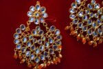 Punjabi Traditional Jewellery Earrings Tikka Kundan Work set J0335