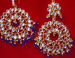 Punjabi Traditional Jewellery Earrings Tikka Kundan Work set J0336
