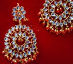 Punjabi Traditional Jewellery Earrings Tikka Kundan Work set J0339