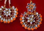 Punjabi Traditional Jewellery Earrings Tikka Kundan Work set J0340