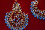 Punjabi Traditional Jewellery Earrings Tikka Kundan Work set J0347