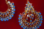 Punjabi Traditional Jewellery Earrings Tikka Kundan Work set J0347