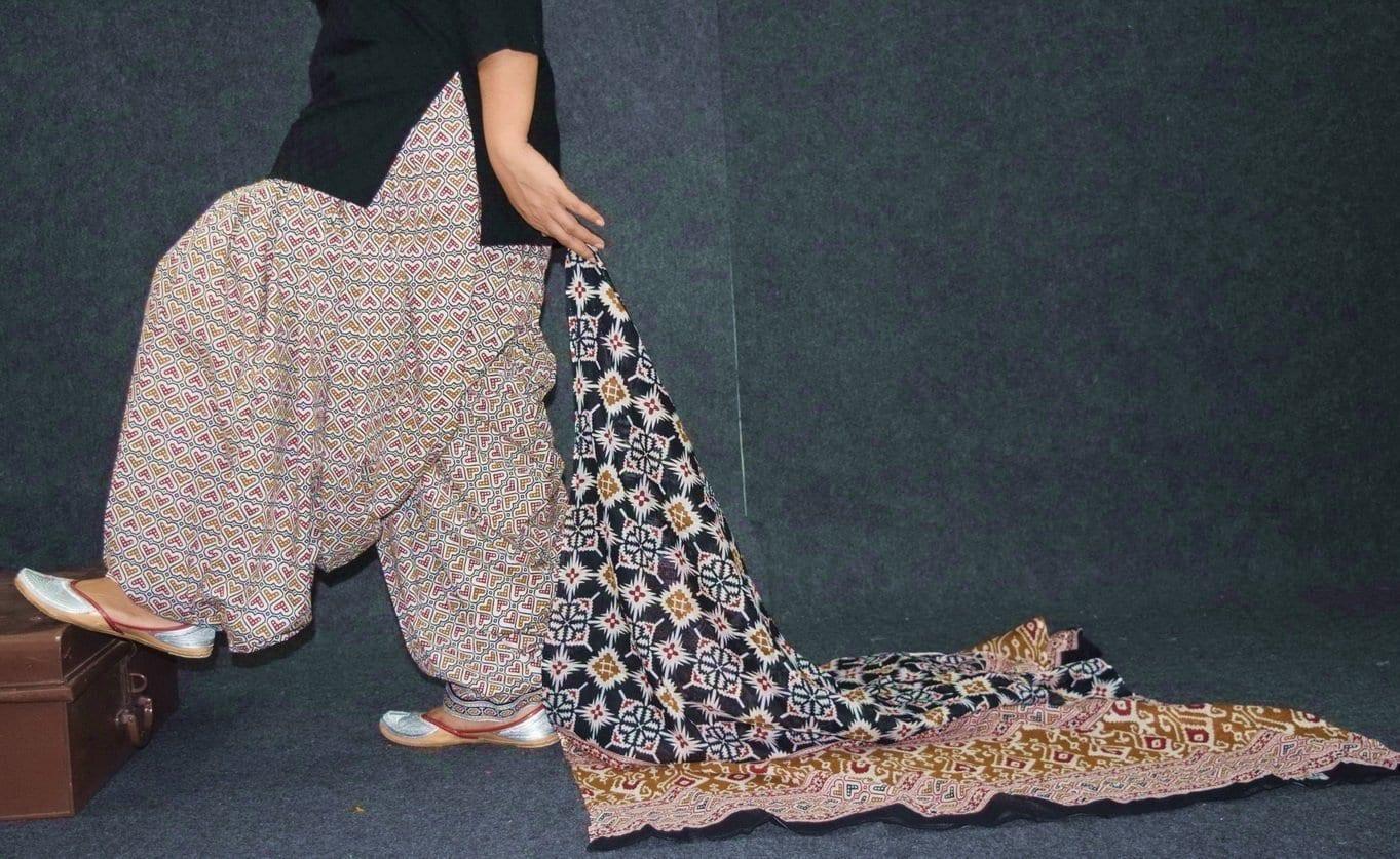 Ready to wear Pure Cotton Printed Patiala Salwar + Print cotton Dupatta PSD200 2