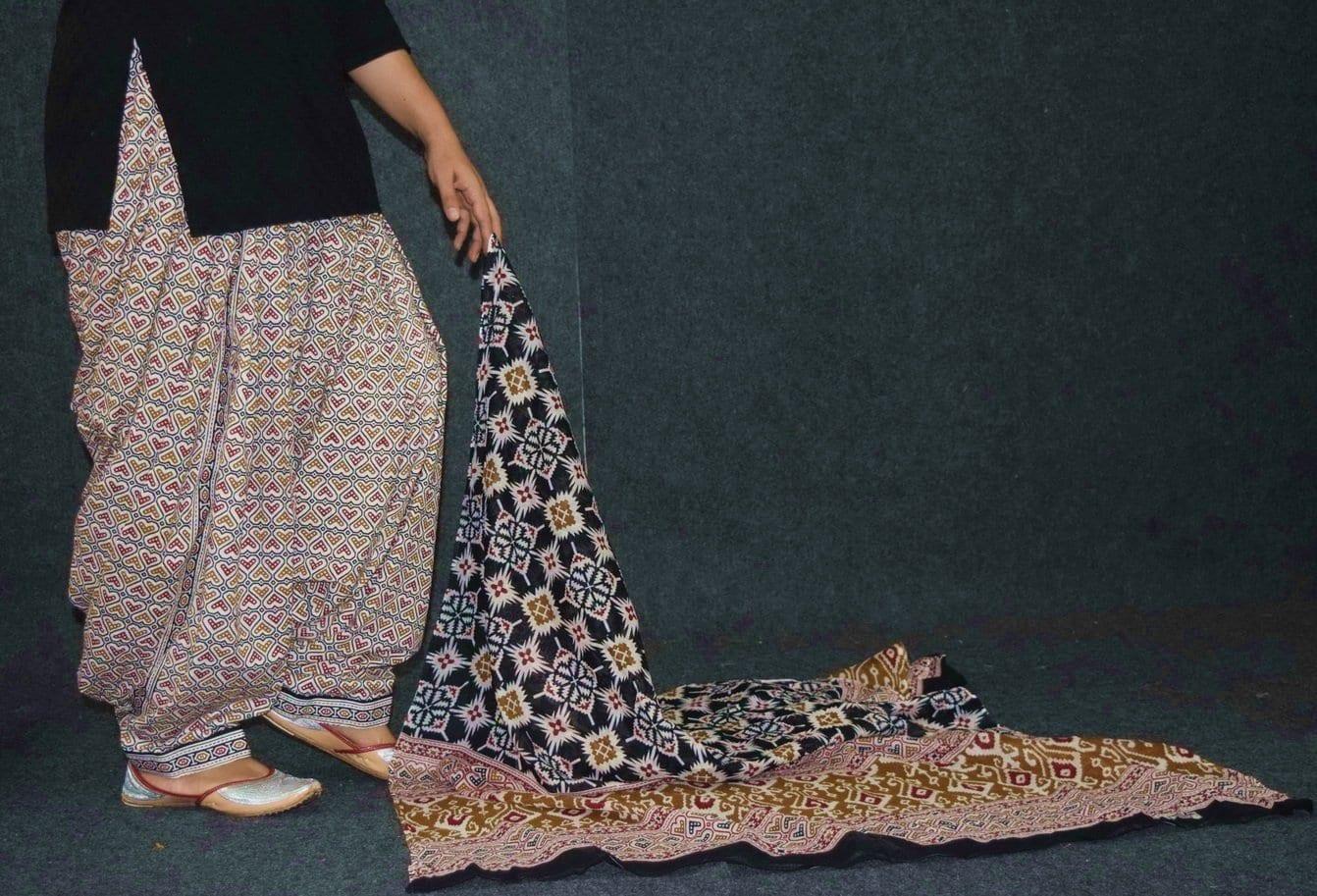 Ready to wear Pure Cotton Printed Patiala Salwar + Print cotton Dupatta PSD200 3