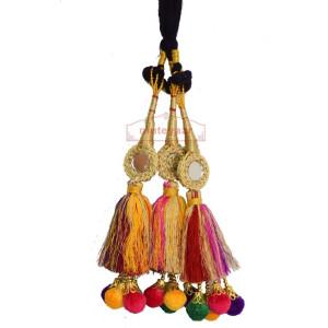 Multi Colour Laddoo Mirrors Paranda parandi Pure Punjabi style ethnic Tassles