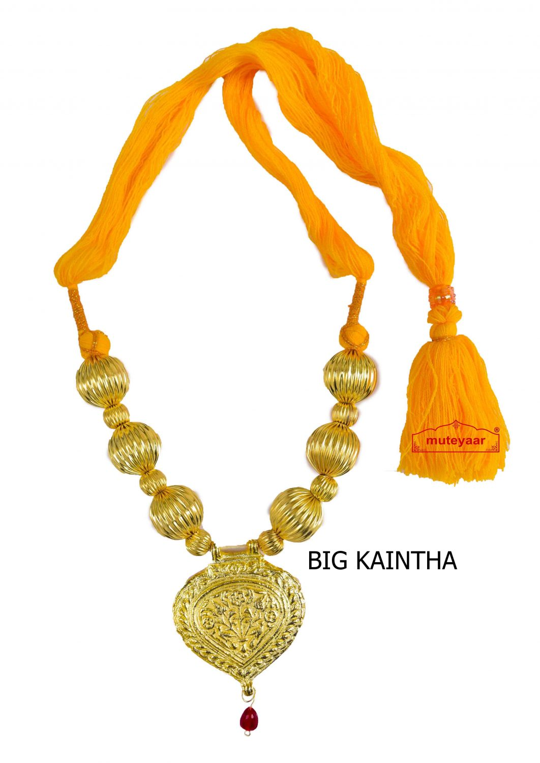 Golden Kaintha Necklace for Bhangra Giddha | Costume Jewelry 2