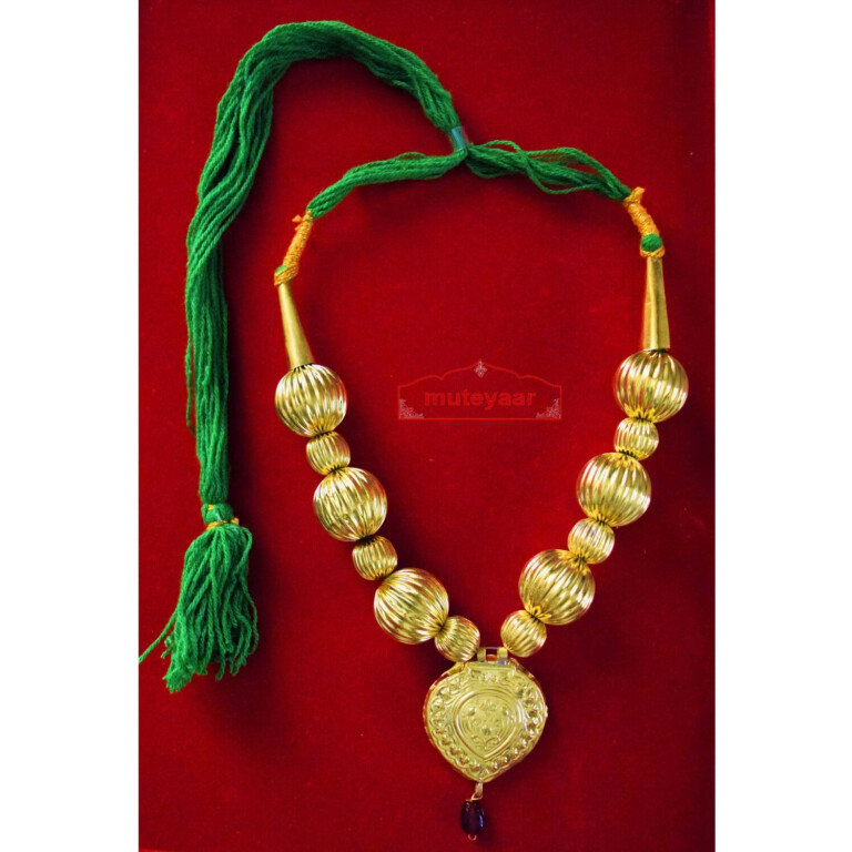 Golden Kaintha Necklace for Bhangra Giddha