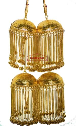 Gold Polished Traditional Punjabi Jadau Kaleera For The PunjabI Bride J0901