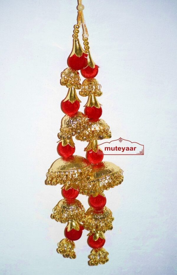Gold Polished Traditional Laddoo Kaleera For The PunjabI Bride J0905