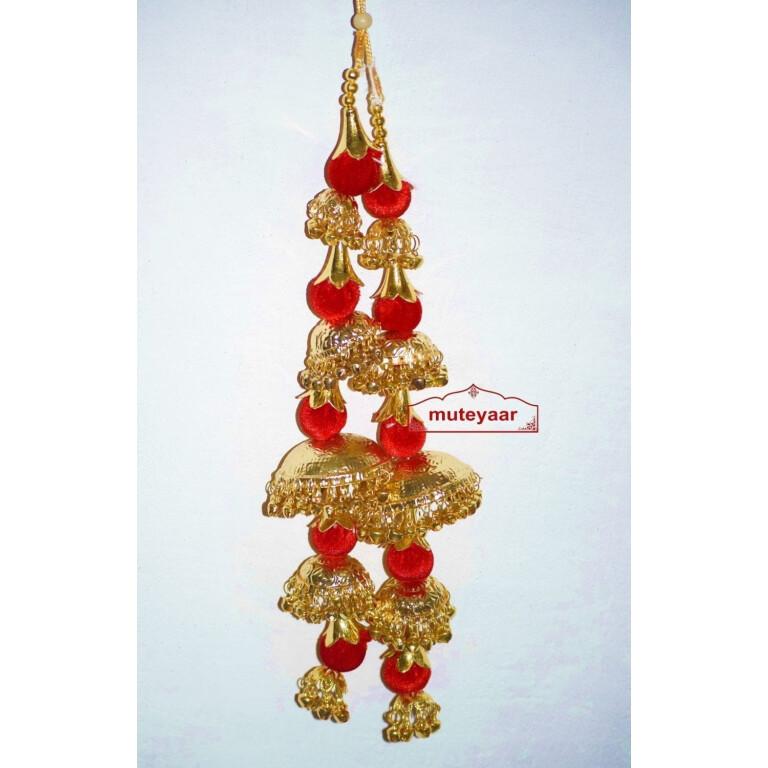 Gold Polished Traditional Laddoo Kaleera For The PunjabI Bride J0905