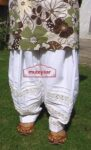 Lace Work Patiala Salwar Custom Made with Pintex Design