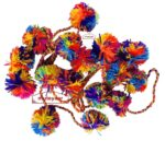 Pom Pom Shoulder Phuman Accessory for Bhangra Giddha Costume Dress