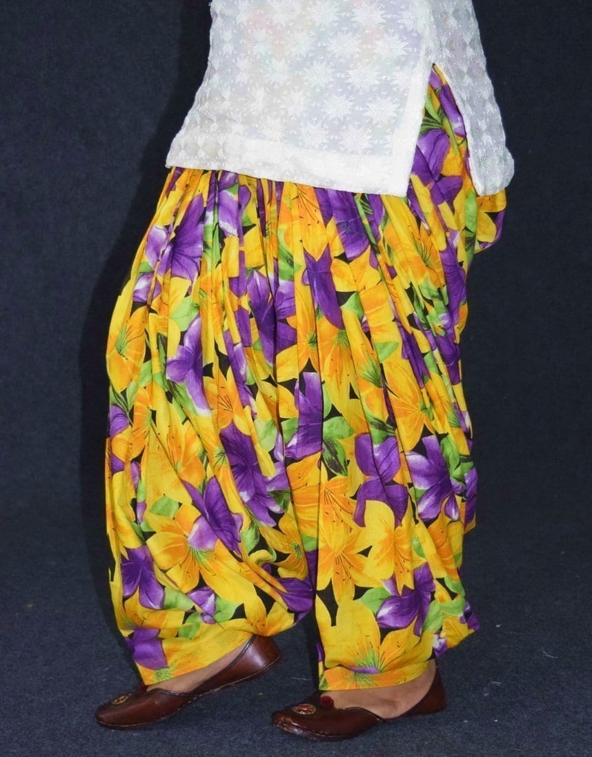 Printed Full Patiala Salwar Limited Edition 100% Soft Cotton Shalwar PPS245 4