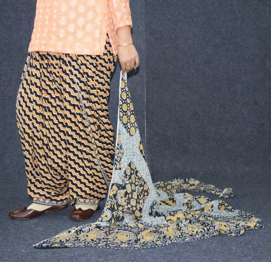 Pure Cotton Printed Patiala Salwar with Print cotton Dupatta PSD212 4