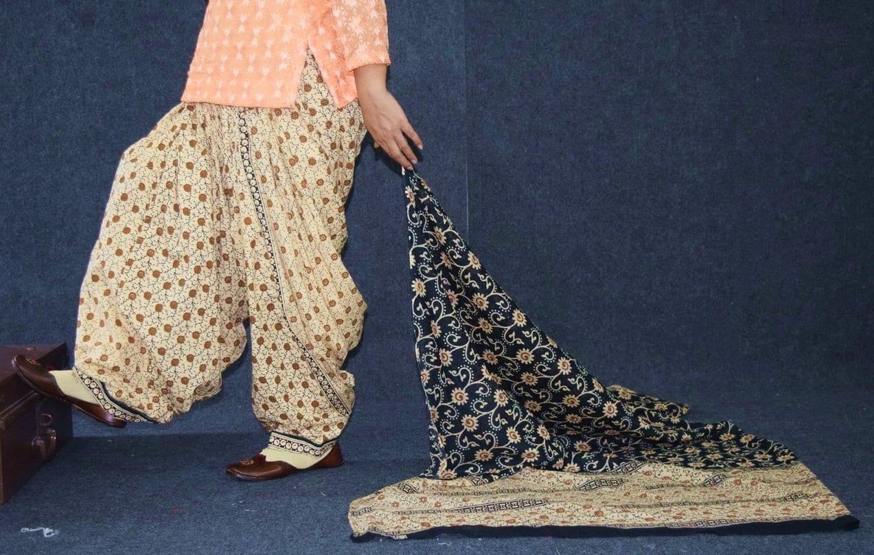 Pure Cotton Printed Patiala Salwar with Print cotton Dupatta PSD215 1